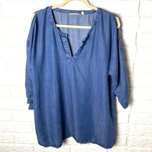 Soft Surroundings Cold Shoulder Top Size XL